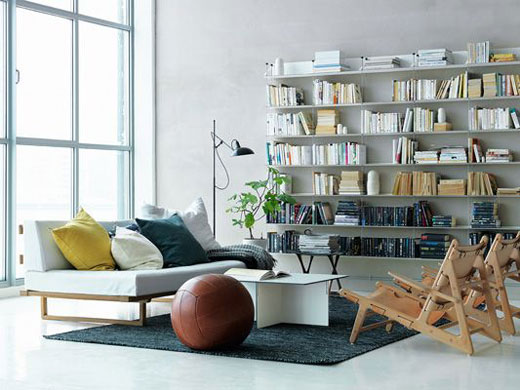 string shelving system from swedish designer nisse strinning. Black Bedroom Furniture Sets. Home Design Ideas