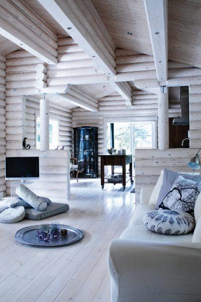 Log Cabin Interior Wood Walls