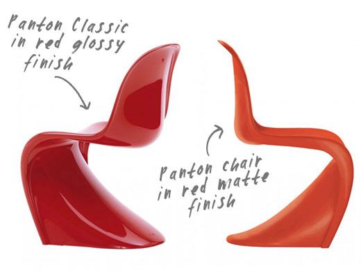 Panton Stuhl Original panton versus panton chair nordicdesign