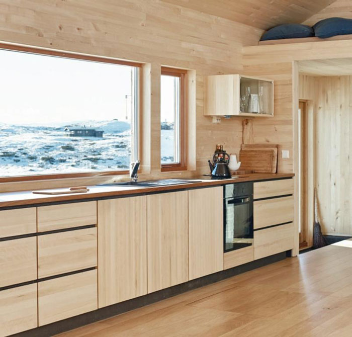 A Scandi Style Kitchen And Bathroom With A Coastal Cool Feel: Cabin With Alpine Charm In Norway