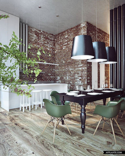 green-eames-chairs-in-penthouse