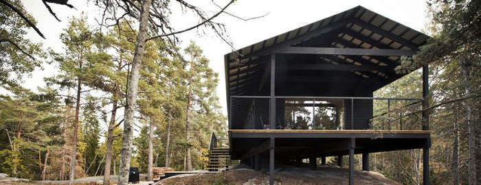 Wooden Cabin In The Swedish Archipelago