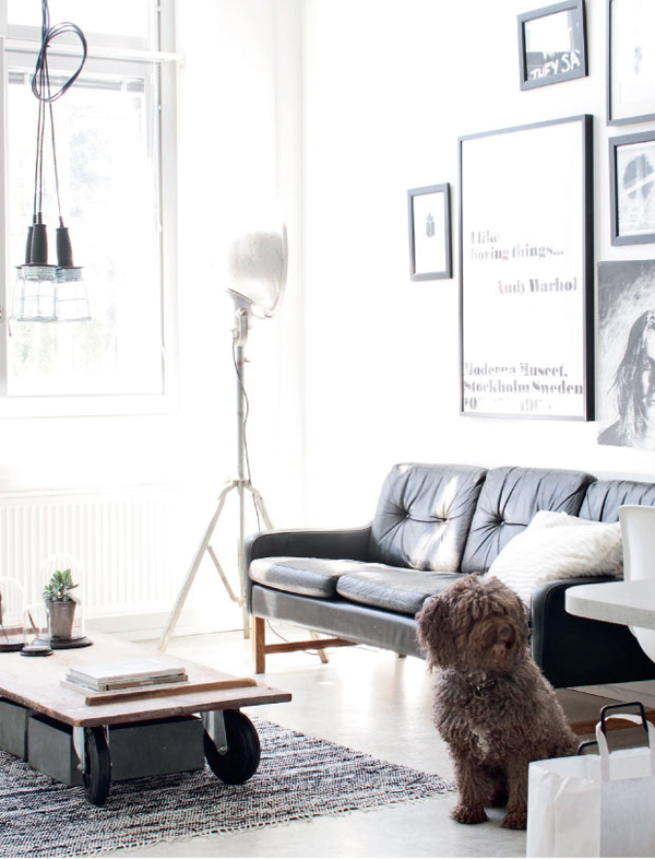 Vintage and Industrial Apartment in Finland_6