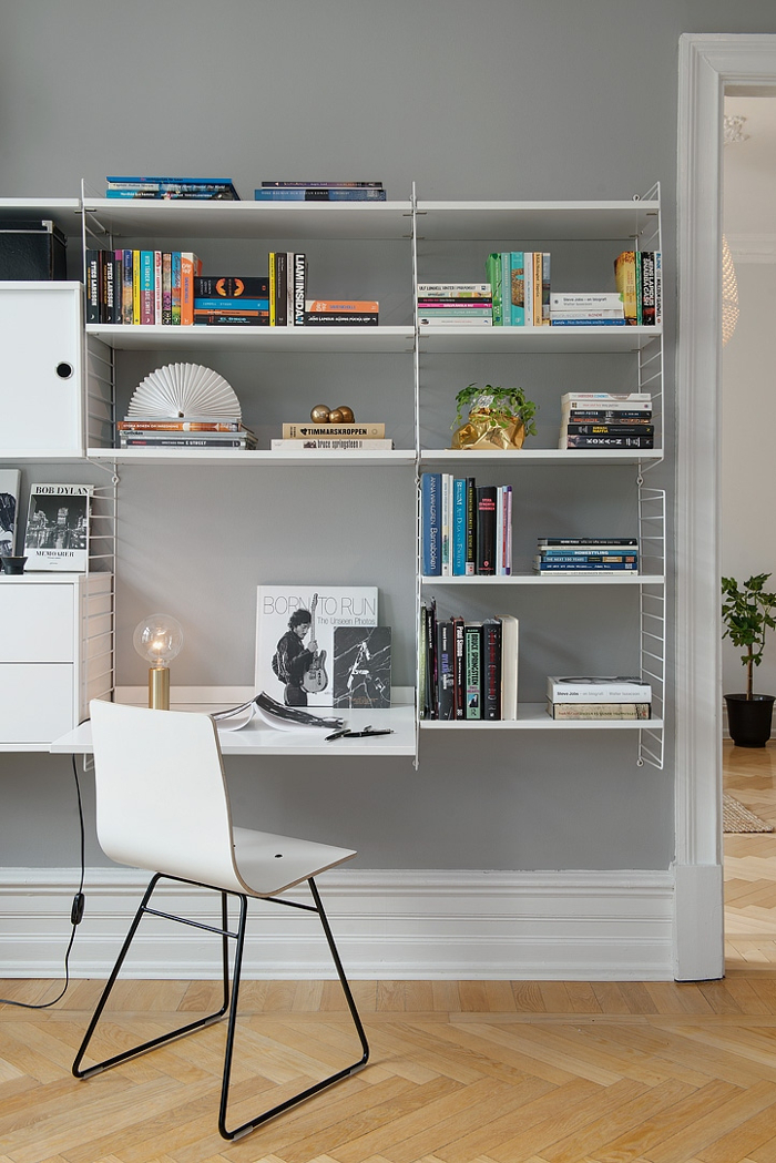 Pretty White and Grey Apartment in Sweden_2