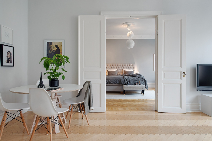 Pretty White and Grey Apartment in Sweden_5