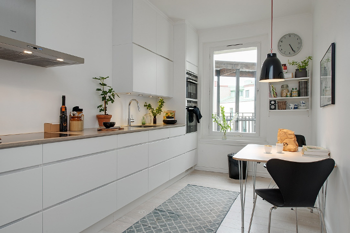 Pretty White and Grey Apartment in Sweden_8