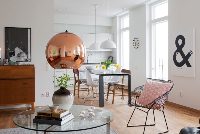 Classicly elegant apartment in Sweden_3