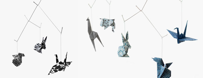 Product Crush Baby Zoo Origami Mobile Nordicdesign