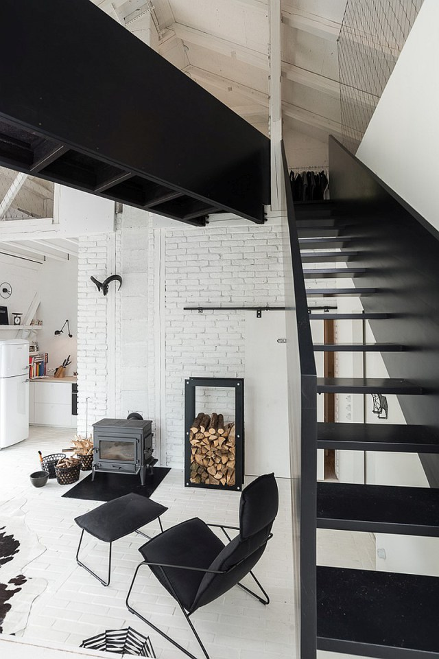 Remodelled Barn in Black and White_8