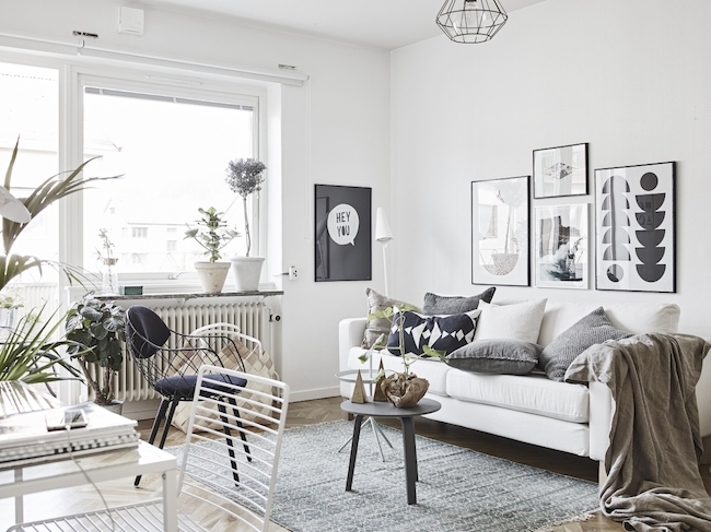A cute monochrome home in Sweden_2