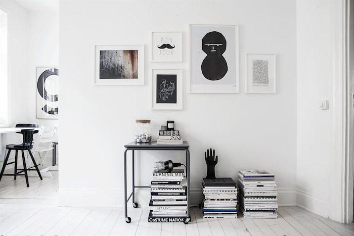Scandinavian home with a modern monochrome interior_1