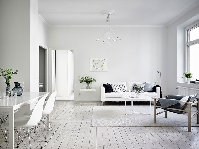 Simple And Minimalist AllWhite Apartment In Gothenburg NordicDesign Magnificent Design Apartment Minimalist