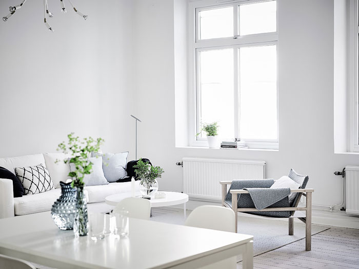 Simple And Minimalist All White Apartment In Gothenburg Nordic Design