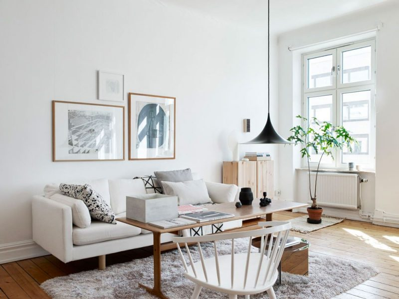 Tour a Beautiful, Bright and Warm Scandinavian Apartment + How to Get the Look