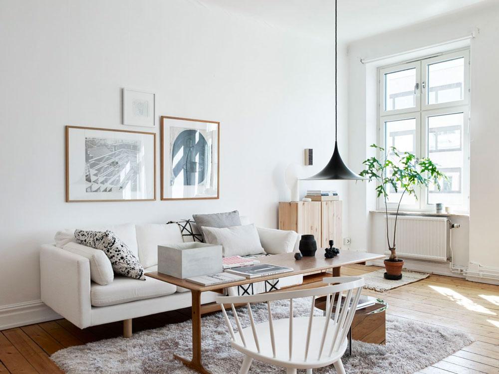 lovely scandinavian style interior design | Tour a Beautiful, Bright and Warm Scandinavian Apartment ...