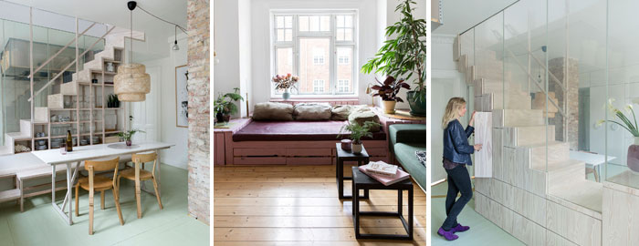 Clever Solutions in a Small Copenhagen Apartment - NordicDesign