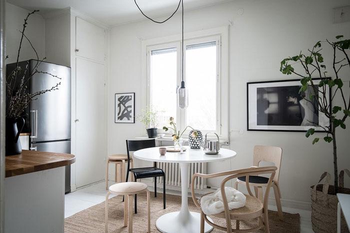 Beautiful Monochrome Studio Apartment In Sweden 10 Nordicdesign - Sleek-and-beautiful-apartment-in-sweden