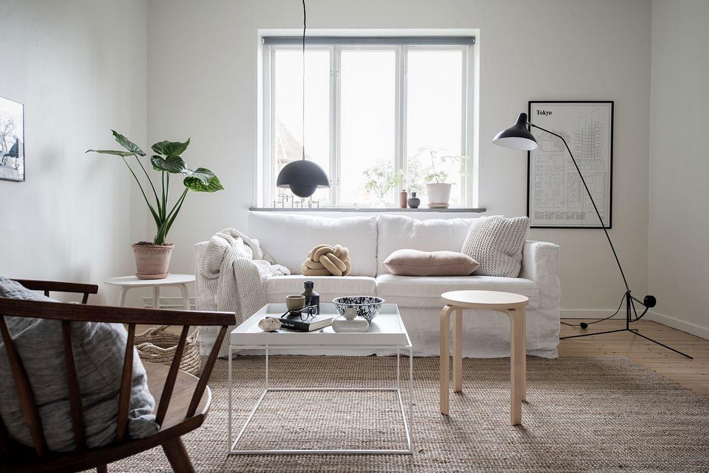 A simple but beautifully styled 37 square meter swedish for Decoraciones interiores de departamentos