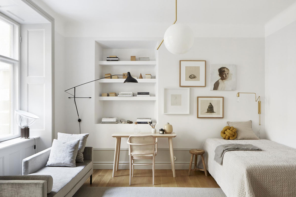 A Perfectly Styled 40 Square Meter Stockholm Apartment In A Warm Neutral Palette Nordic Design