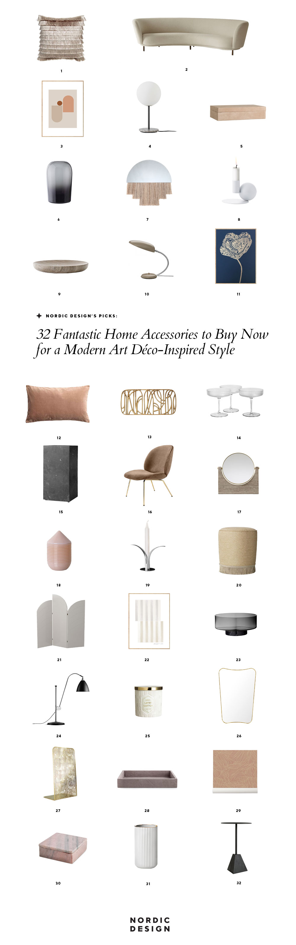 32 Fantastic Home Accessories To Buy Now For A Modern Art Deco Inspired Style Nordic Design