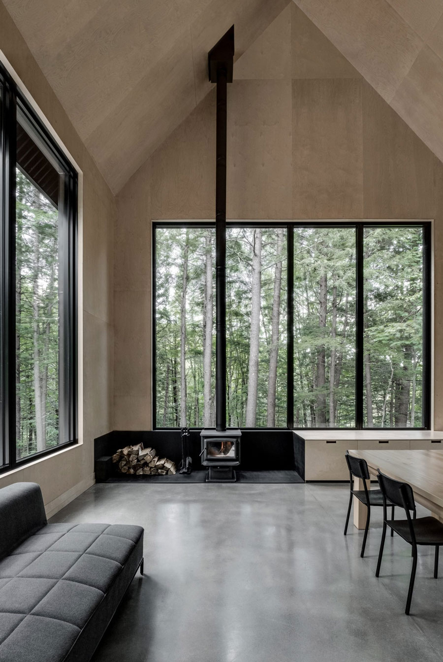 Tour a Stunning Forest Getaway by MontrealBased Firm APPAREIL