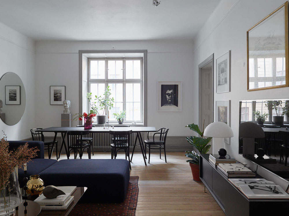 Tour a spacious stockholm apartment with an eclectic for Stockholm design