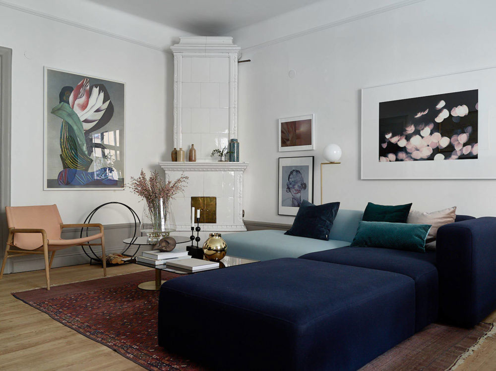 Tour a Spacious Stockholm Apartment with an Eclectic ...