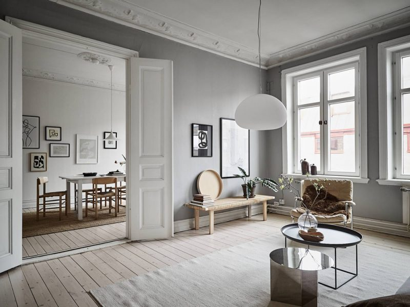 Tour a Sophisticated and Serene Swedish Apartment with an Effortless Elegance