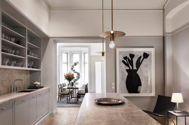 Peek Inside a Refined Residence in a Posh Neighborhoodof Stockholm