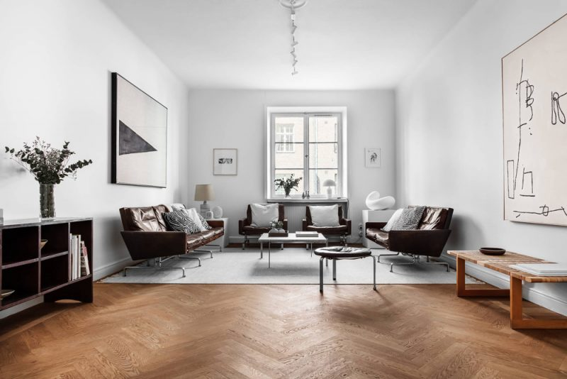 A Spacious Stockholm Apartment Filled with Iconic Design and Art