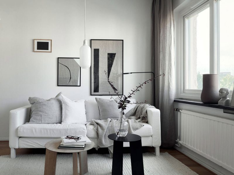A Small and Stylish 25-Square-Meter Apartment in Sweden