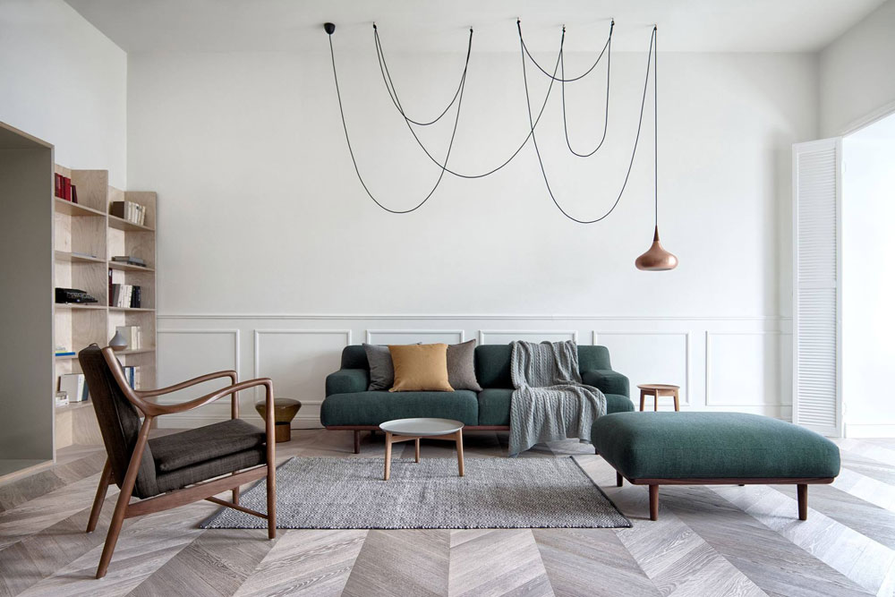 Spacious and scandinavian inspired apartment by int2 for Danish design furniture replica uk