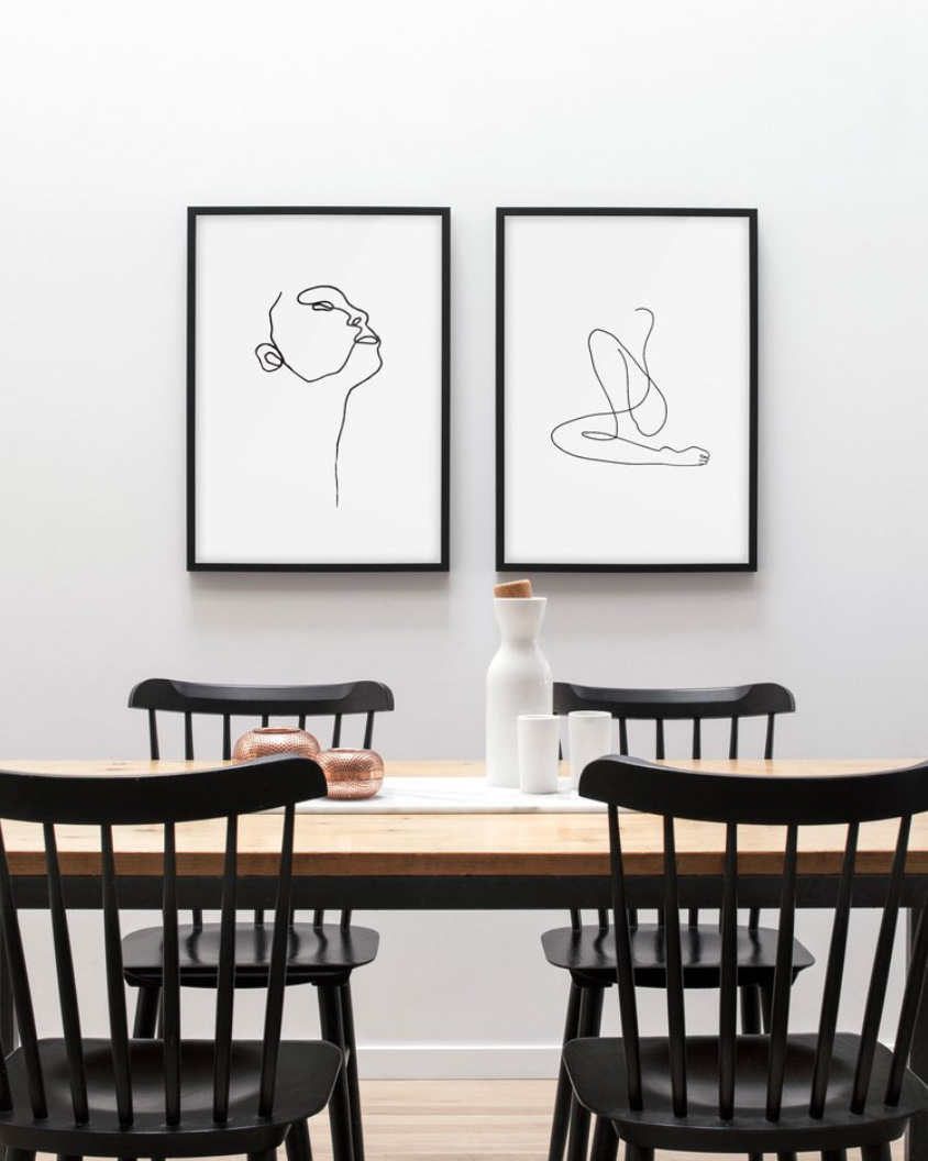 Trending Minimal Modernist Inspired Line Drawings And Sketches Nordic Design