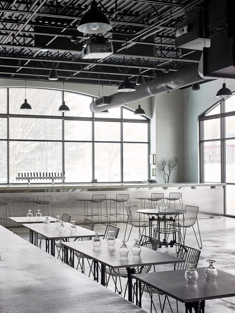 Bad Lab Beer Co.: A New Hampshire Brewpub with a Monochrome and Pared-Back Look by Swedish Designer Richard Lindvall