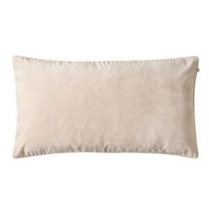 Velvet pillow beige