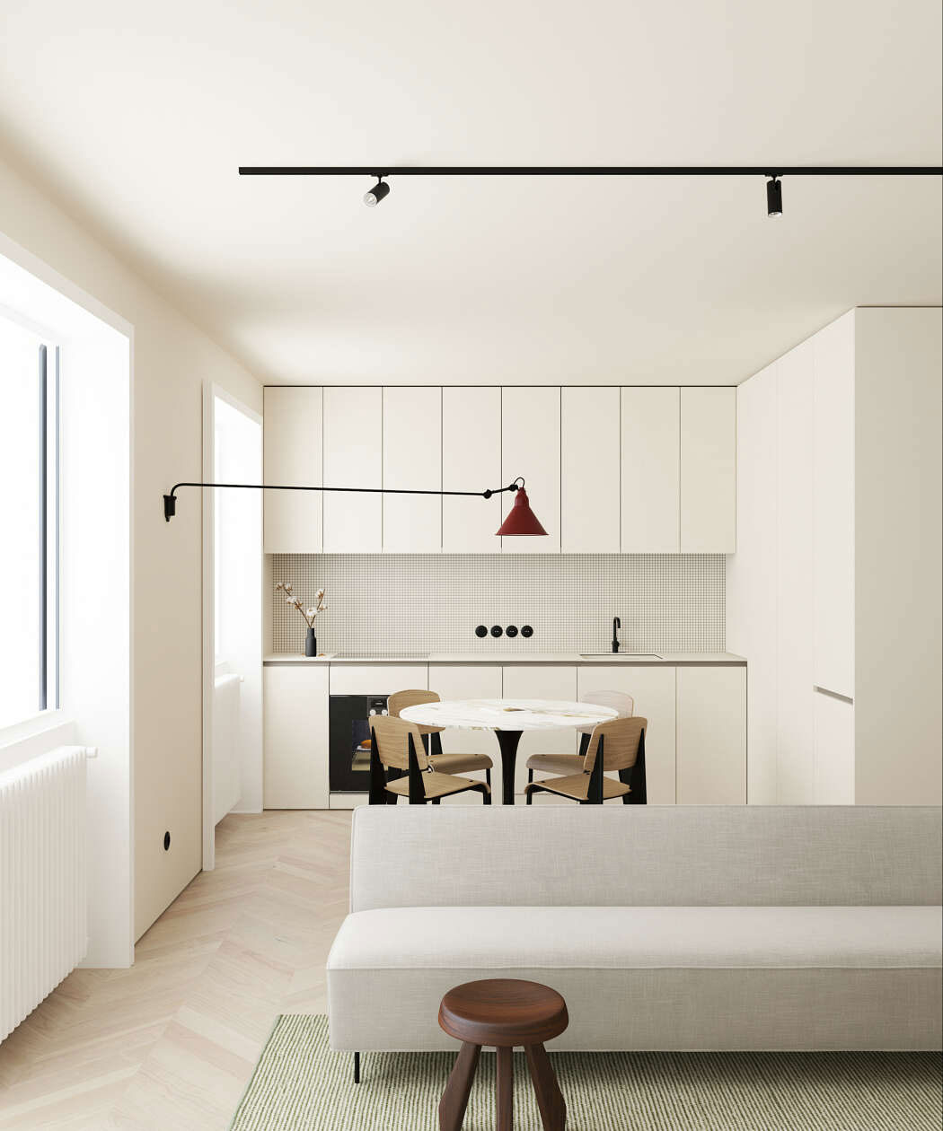 This modern scandinavian style apartment is a lesson in for Design minimal