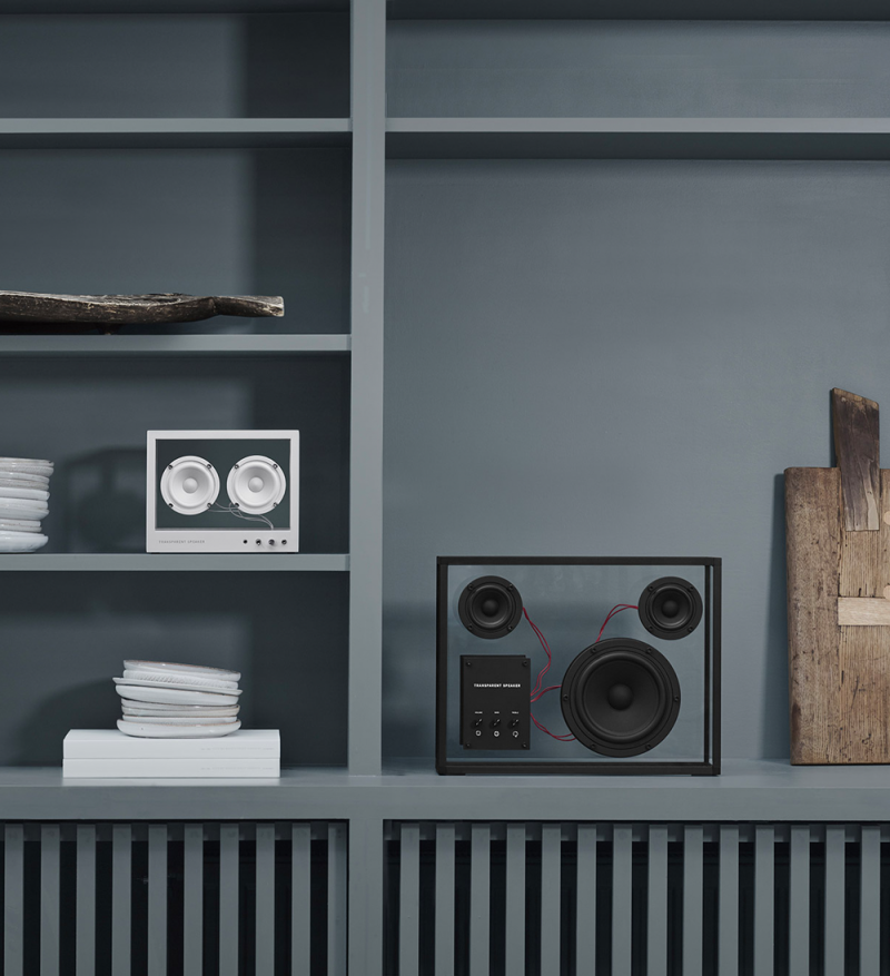 Currently Coveting: Transparent Speakers from a Swedish Brand with a Focus on Simplicity and Adaptability