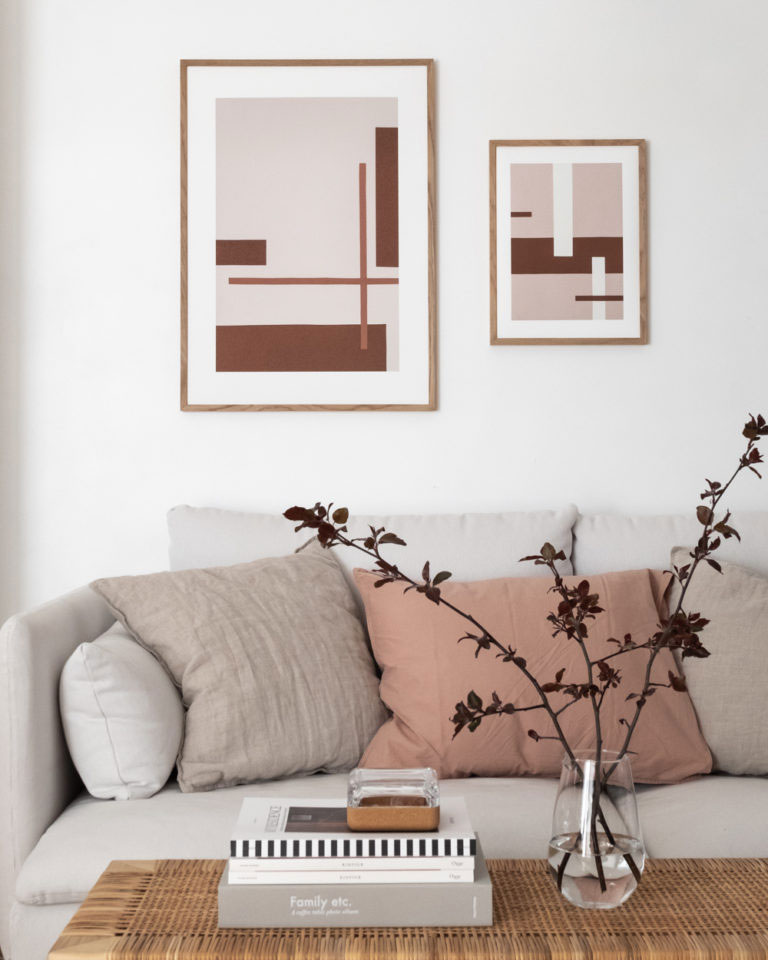 Geometrical Art Prints in Earthy Tones by Anu Reinson