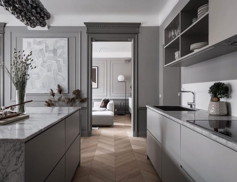 Inside a Refined Stockholm Apartment in Shades of Grey